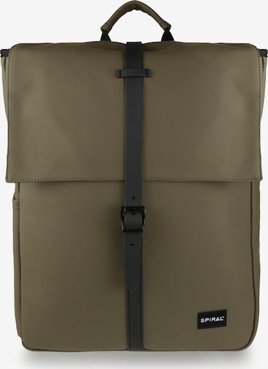 SPIRAL Backpack 'MANHATTAN' in Olive / Black, Item view