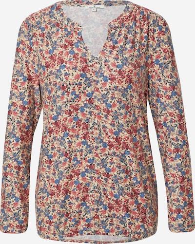 TOM TAILOR Shirt in hellbeige / himmelblau / pitaya / altrosa / weiß, Produktansicht