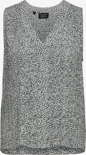 SELECTED FEMME Top in schwarz / weiß, Produktansicht