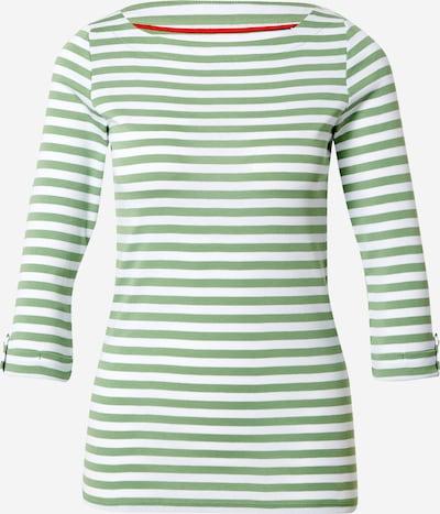ESPRIT Shirt in grasgrün / weiß, Produktansicht