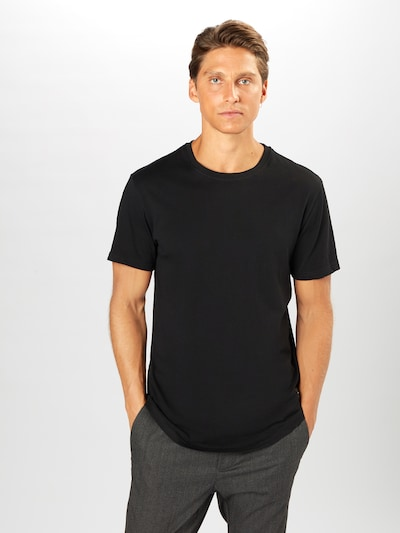 Only & Sons T-Shirt 'ONSMATT LONGY SS TEE 7-PACK BD' en gris / noir / blanc, Vue avec modèle