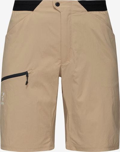 Haglöfs Outdoorbroek 'L.I.M Fuse' in de kleur Chamois / Zwart, Productweergave
