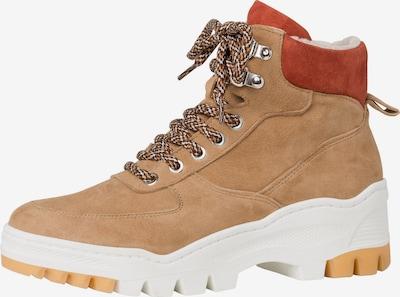 TAMARIS Chaussure à lacets en abricot / rouge / blanc, Vue avec produit