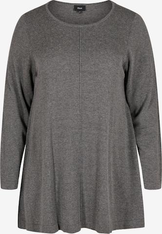 Zizzi Pullover 'Mshape' in Grau