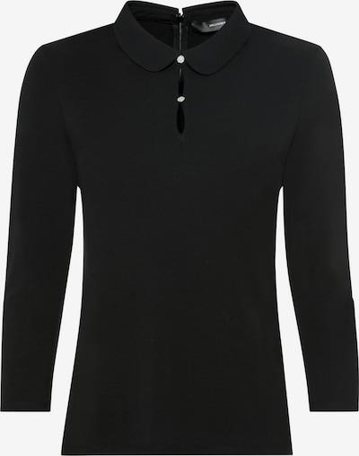 HALLHUBER Bubikragen-Shirt aus Lenzing™-EcoVero™ in schwarz, Produktansicht