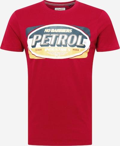 Petrol Industries T-Shirt en jaune / pétrole / rouge, Vue avec produit