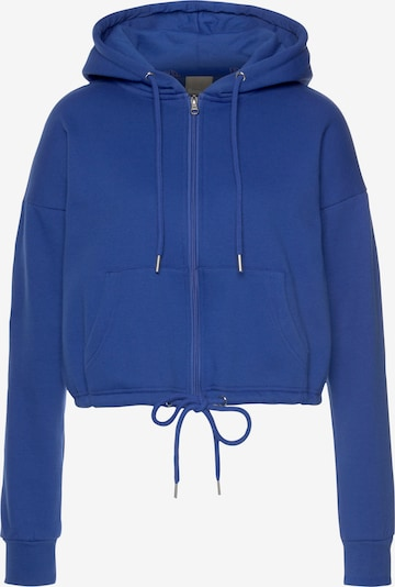 BENCH Sweatjacke in royalblau / orange, Produktansicht