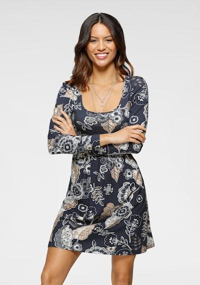 LAURA SCOTT Kleid in navy / gold / weiß, Modelansicht