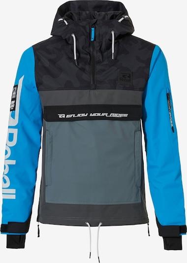 Rehall Jacke ' Karl-R Snow ' in blau / grau / schwarz / weiß, Produktansicht