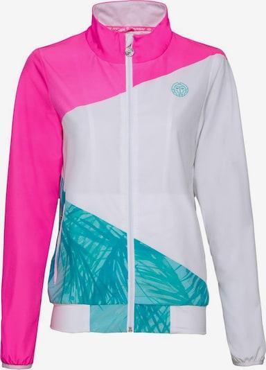 BIDI BADU Trainingsjacke Piper in ausgefallenem Design in türkis / pink / weiß, Produktansicht