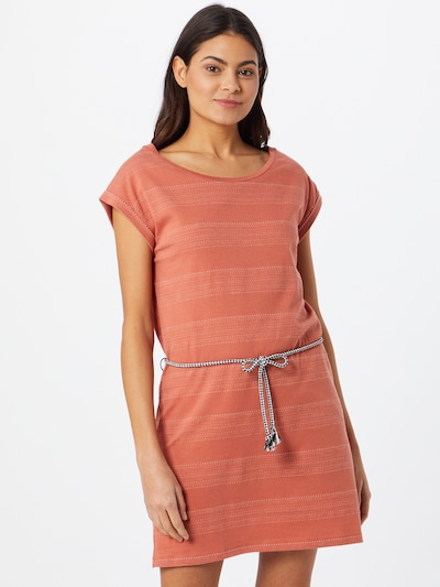 Iriedaily Kleid 'Neila' in orangerot / weiß, Modelansicht