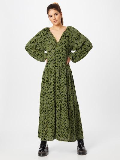 SOAKED IN LUXURY Kleid 'Zaya' in grün / dunkelgrün / schwarz, Modelansicht