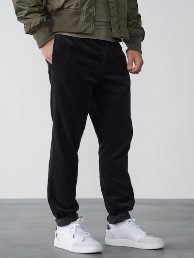 DAN FOX APPAREL Hose 'Berat' in schwarz, Modelansicht