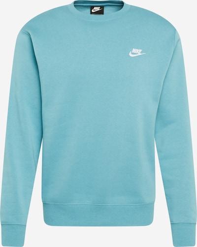 Nike Sportswear Sweatshirt in türkis / weiß, Produktansicht