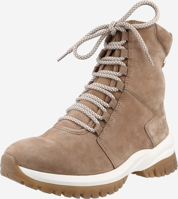 CAPRICE Lace-Up Ankle Boots in Brown