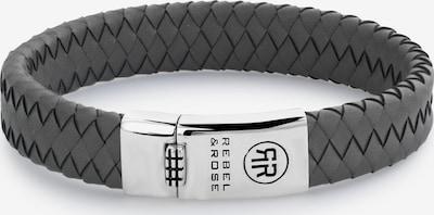 Rebel & Rose Armband in anthrazit / silber, Produktansicht