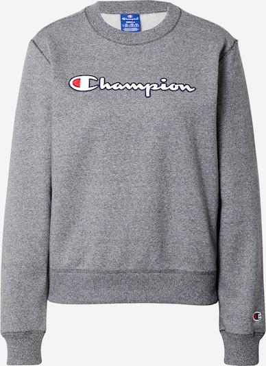 Champion Authentic Athletic Apparel Sweatshirt in graumeliert / rot / weiß, Produktansicht