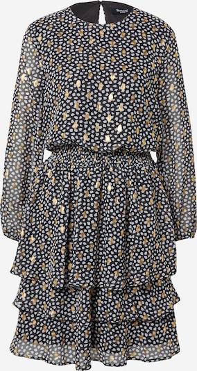 SISTERS POINT Kleid 'NICOLINE' in gold / schwarz / weiß, Produktansicht