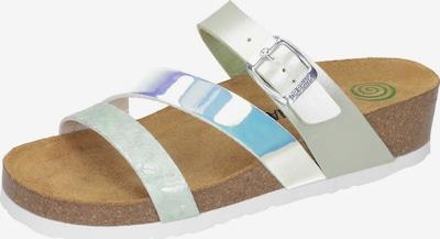 DR. BRINKMANN Pantoletten in blau / weiß, Produktansicht