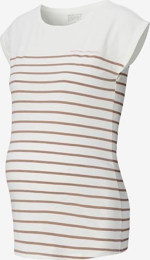 Esprit Maternity T-Krekls, krāsa - pelēkbrūns / balts, Preces skats