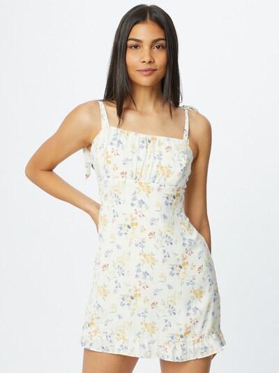 Abercrombie & Fitch Kleid in mischfarben / weiß, Modelansicht