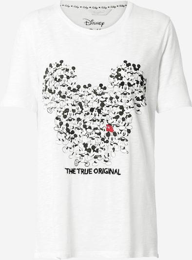Tricou 'Mickey' Frogbox pe negru / alb, Vizualizare produs