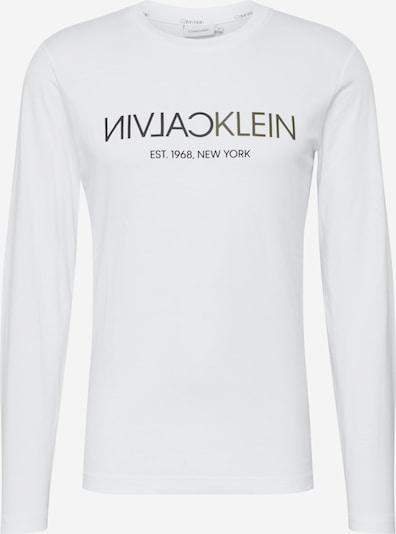 Calvin Klein Majica   črna / bela barva, Prikaz izdelka