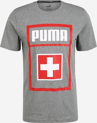 PUMA T-Shirt fonctionnel en gris / rouge clair, Vue avec produit