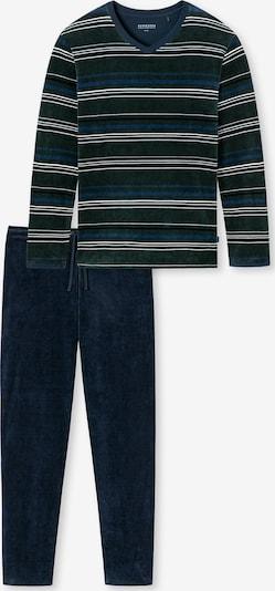 SCHIESSER Schlafanzug lang ' aus der SCHIESSER-Serie Fashion Nightwear ' in dunkelgrün, Produktansicht