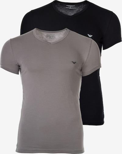Emporio Armani T-Shirt in grau / schwarz, Produktansicht