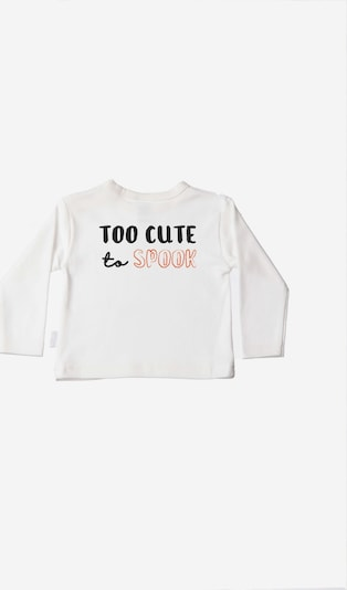 LILIPUT Niedliches Langarmshirt mit 'Too Cute to Spook'-Print in ecru, Produktansicht