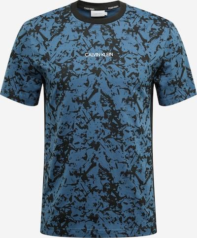 Calvin Klein Koszulka w kolorze niebieski / czarnym: Widok z przodu