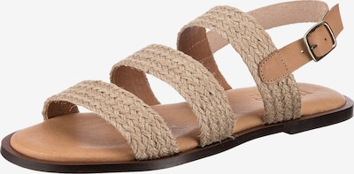 VERBENAS Sandale 'Trenza' in creme, Produktansicht