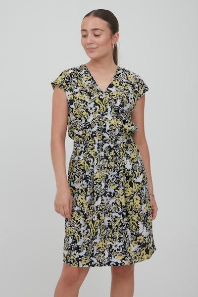 ICHI Summer Dress 'IHBRUCE' in Yellow / Black / White, View model