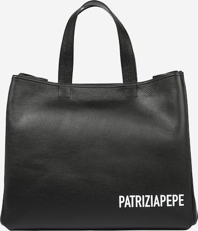 Pirkinių krepšys iš PATRIZIA PEPE , spalva - juoda / balta, Prekių apžvalga