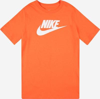 Nike Sportswear T-Shirt 'FUTURA' in orange / weiß, Produktansicht