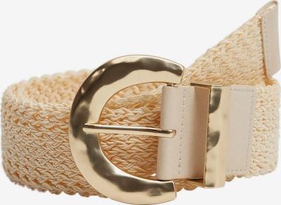 MANGO Gürtel 'ALLEN' in beige / gold, Produktansicht