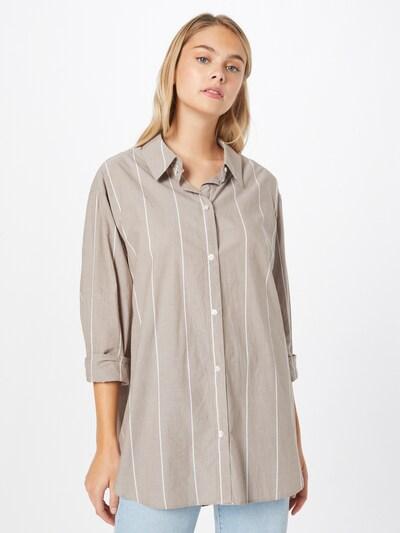 WEEKDAY Bluse 'Edyn' in camel / weiß, Modelansicht