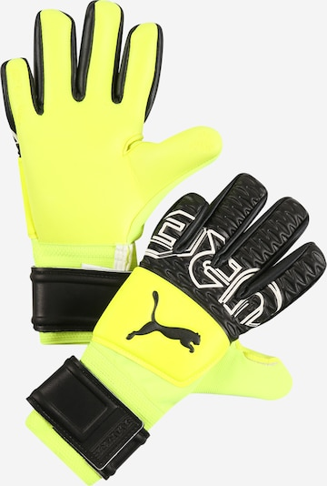 PUMA Sports gloves 'Future' in Neon yellow / Black / White, Item view