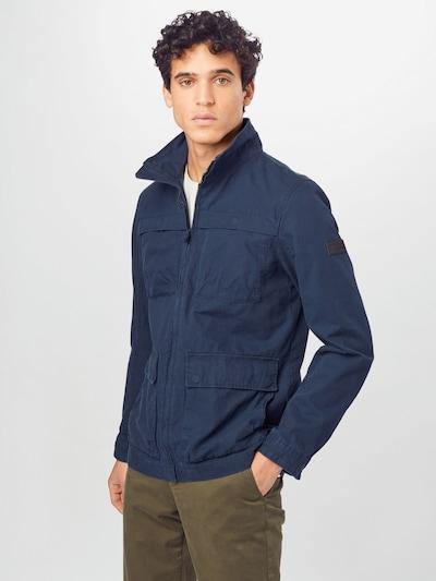 TOM TAILOR DENIM Prehodna jakna | modra barva, Prikaz modela