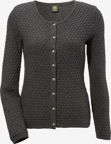 OS-TRACHTEN Knit Cardigan in Grey