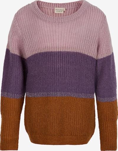 MINYMO Pullover in braun / lila / hellpink, Produktansicht