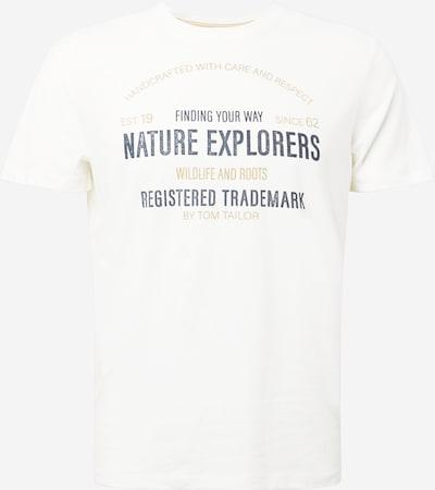 TOM TAILOR T-Shirt in braun / schwarz / weiß, Produktansicht