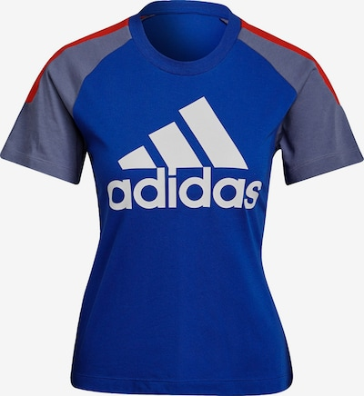 ADIDAS PERFORMANCE T-Shirt in rauchblau / royalblau / rot / weiß, Produktansicht