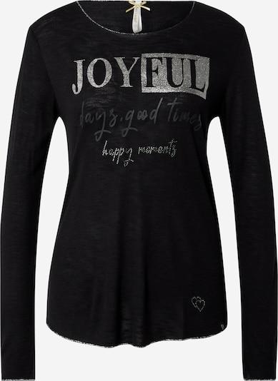 Key Largo Shirt 'JOYFUL' in black / silver, Item view