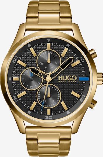 HUGO Armbanduhr in blau / gold / grau / schwarz, Produktansicht