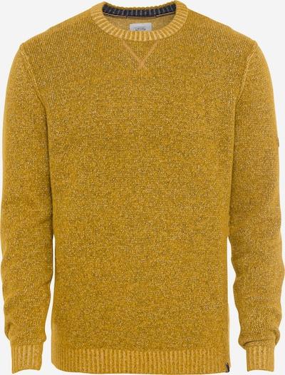 CAMEL ACTIVE Pullover mit Rundhalsausschnitt in gelb / schwarzmeliert, Produktansicht