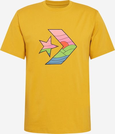 CONVERSE Shirt 'STAR CHEVRON SUNSET' in rauchblau / goldgelb / mint / rosa / schwarz, Produktansicht