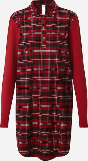 Skiny Spalna srajca | rdeča / črna / bela barva, Prikaz izdelka