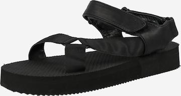 juoda Public Desire Sportinio tipo sandalai